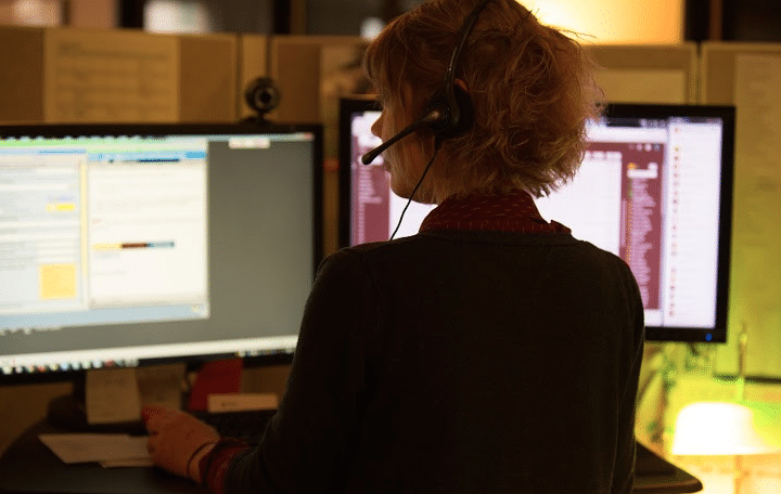 Worker in the ProtoCall Call Center